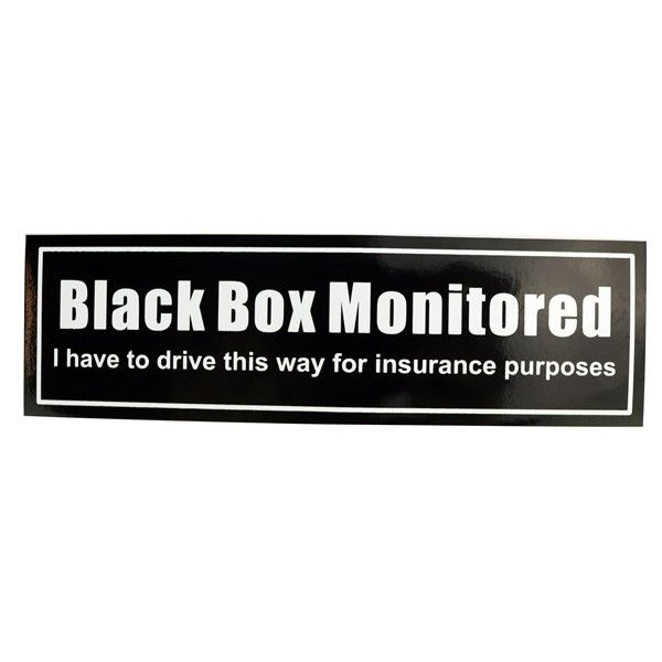 Self Adhesive Sticker Black Box Monitored Rectangle Sticker