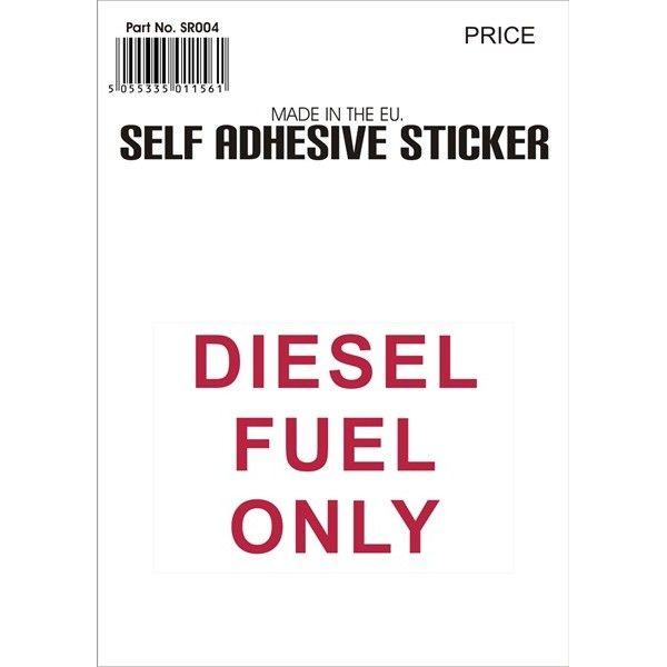 Outdoor Vinyl Sticker Red Diesel Fuel Only