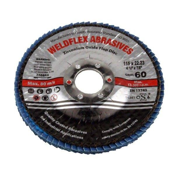 Zirconium Flap Disc 115Mm 60 Grit