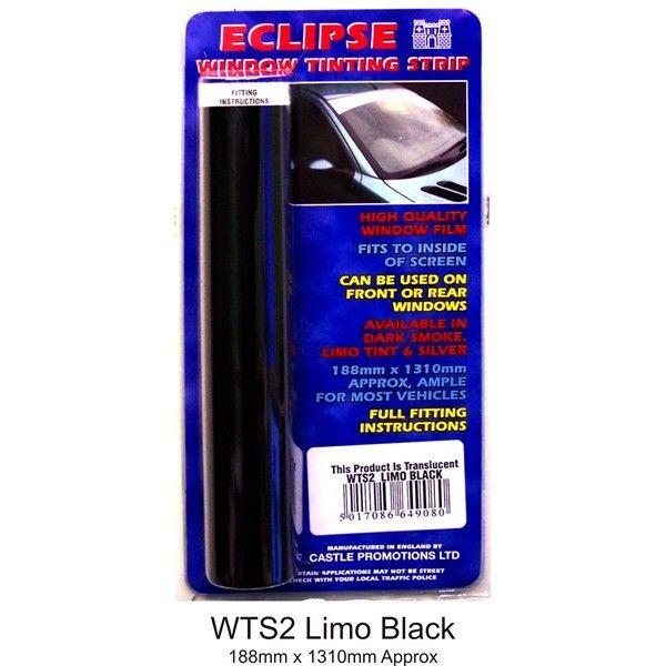 Window Tint Strip Limo Black
