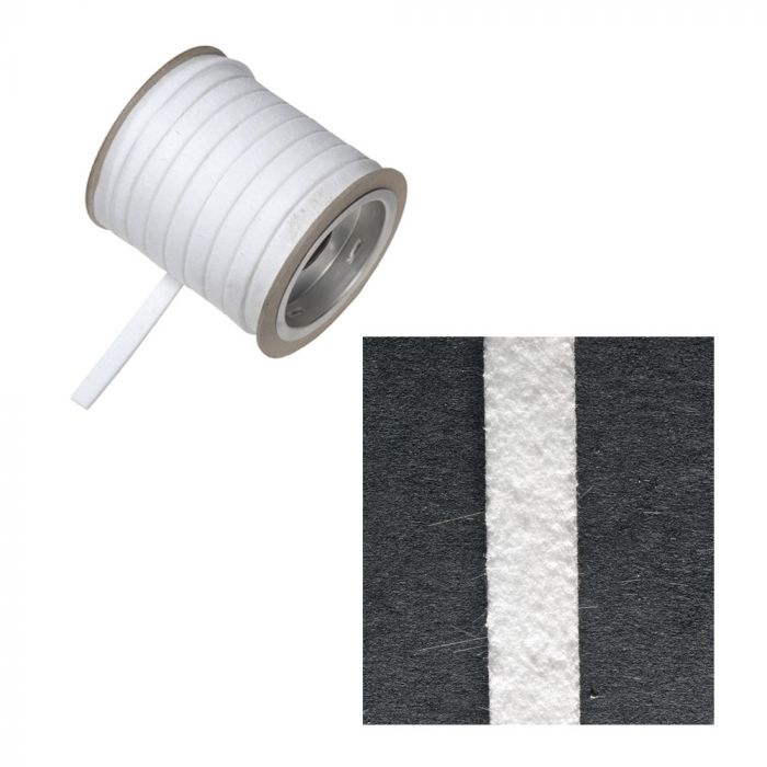 Seal Strip 6Mm X 3Mm X 10M Reel - White