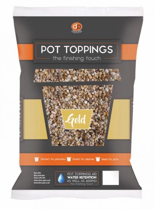 Deco-Pak Pot Toppings 14Mm Gold
