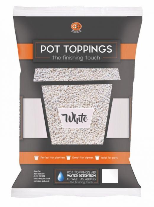Deco-Pak Pot Toppings 20Mm White