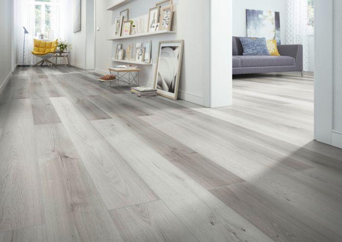 Classen Laminate Floor 1.996M2 Light Grey Kinger 8Mm