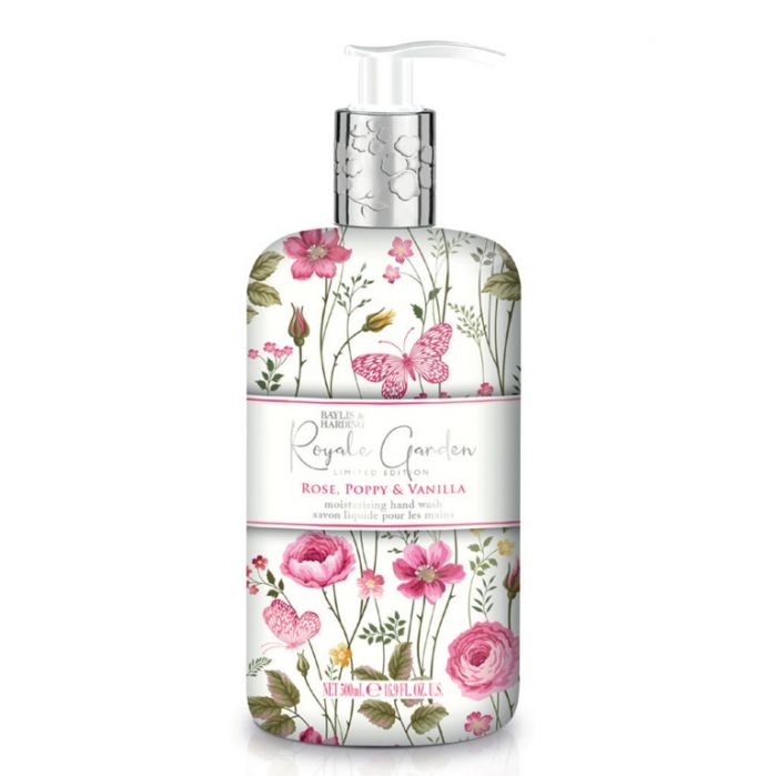 Baylis & Harding Hand Wash 500Ml Rose Poppy & Vanilla
