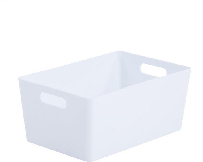 Whatmore Rectangular Studio Box 17 X 25.5 X 11Cm Ice White