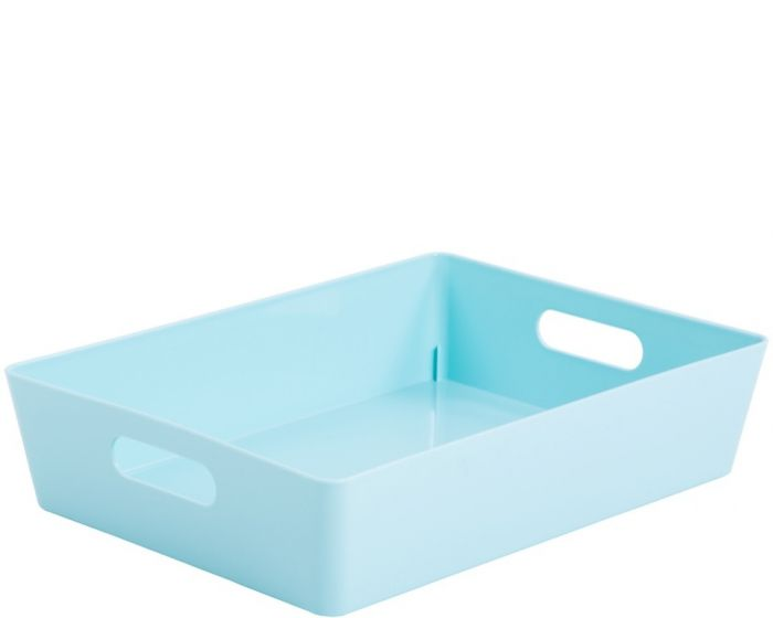 Whatmore Rectangular Studio Box 26 X 35 X 8Cm Duck Egg Blue