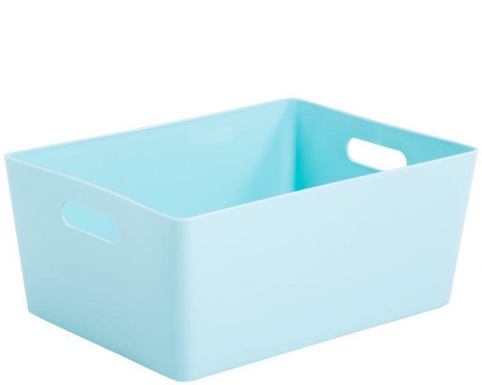 Whatmore Rectangular Studio Box 26 X 35 X 15Cm Duck Egg Blue