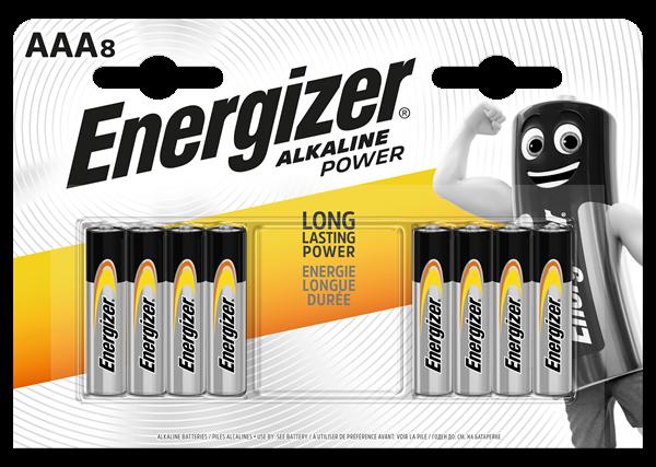 Energizer Alkaline Power Batteries Aaa Pack 8