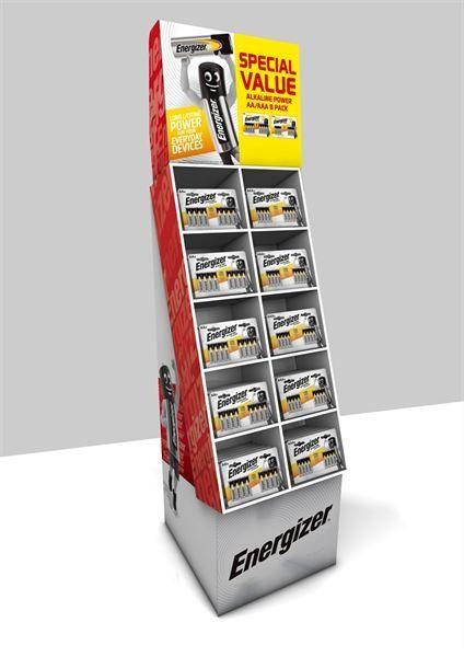 Alkaline Power 108 Batteries Display Unit