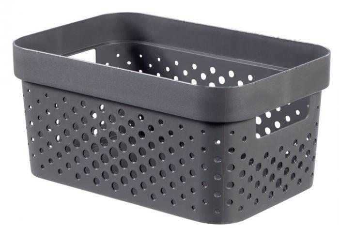 Curver Recycled Infinity Dots Box 4.5L Dark Grey