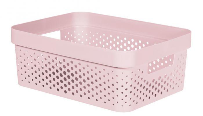 Curver Infinity Dots Box 11L Chalk Pink