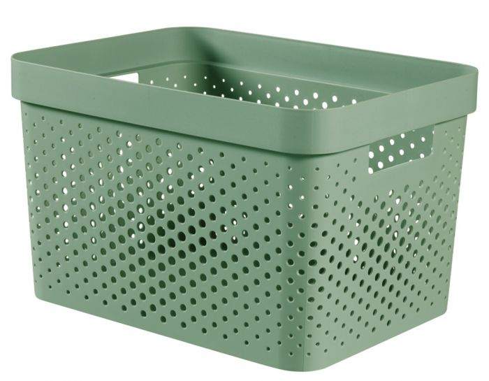 Curver Infinity Dots Box 17L Shale Green