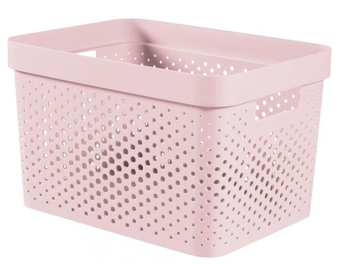 Curver Infinity Dots Box 17L Chalk Pink