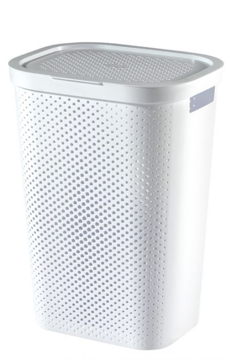 Curver Recycled Infinity Dots Laundry Hamper 60L White