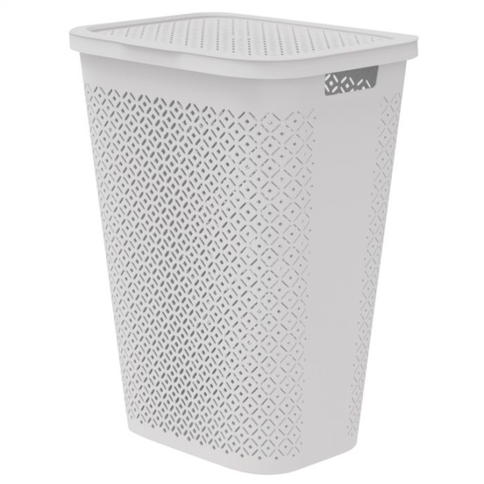 Curver Terrazzo Laundry Hamper 55L Grey