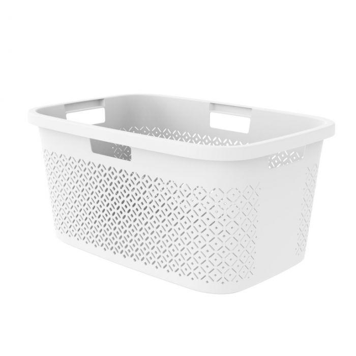 Curver Terazzo Laundry Basket 47L White