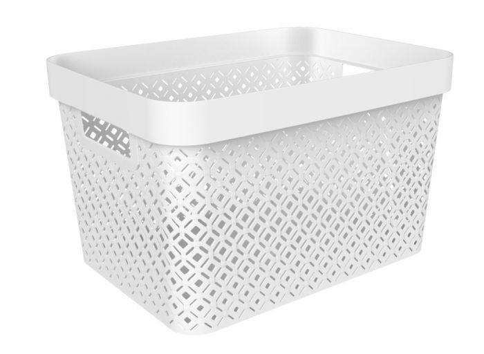 Curver Terazzo Storage Basket 17L White