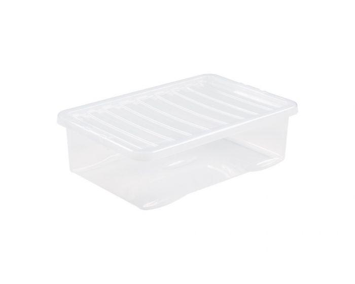 Crystal Clip Lid Underbed Box