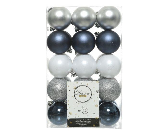 Shatterproof Plain Baubles Pack 30