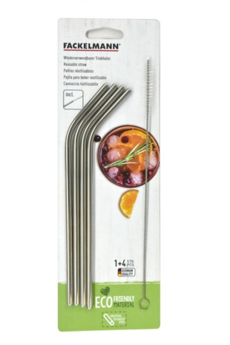 Stainless Steel Straw Set 4