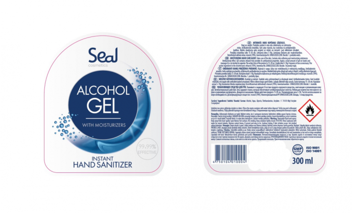 Seal Cosmetics 70% Alcohol Sanitiser Gel 300Ml