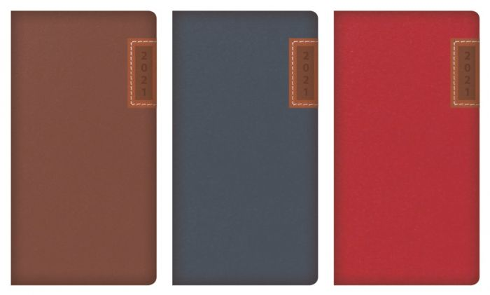 Slim Diary With Embossed Stitched Panel