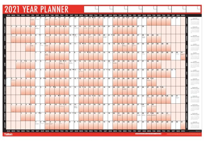 Full Year Wall Planner
