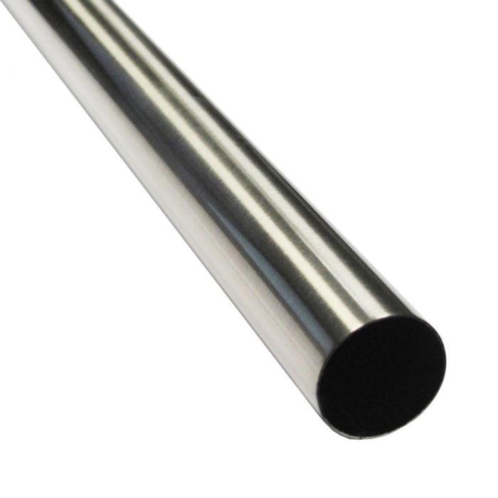 Brushed Nickel Tube 25Mm