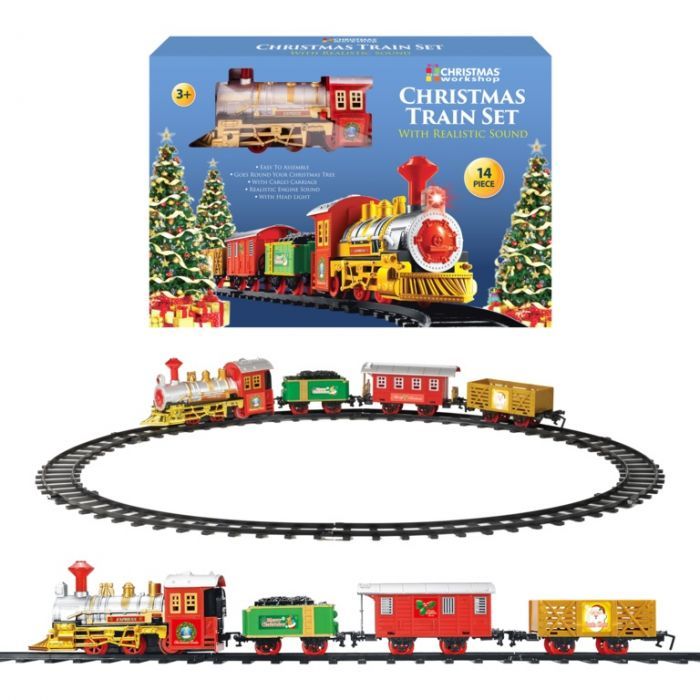 Christmas Train With 3 Carriages