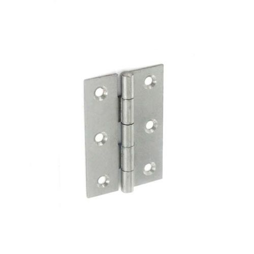 Securit 5050 Steel Narrow Butt Hinges Self Colour 50Mm Pack 20
