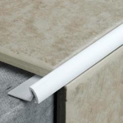Tile Rite Tile Edging Extra Deep White 2.4M X 12Mm