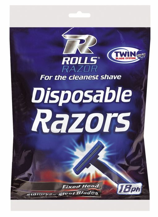 Rolls Razor Twin Blade Disposable Razors 18 Pack
