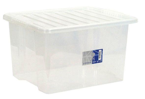 Tml Storage Box & Lid 30L Clear