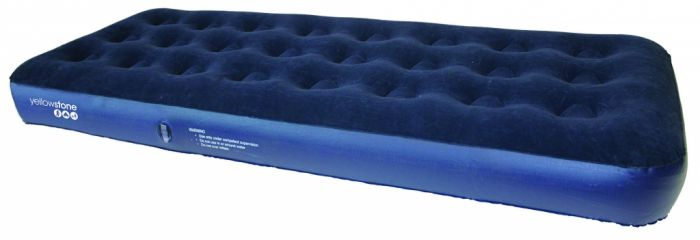 Yellowstone Single Flocked Air Bed