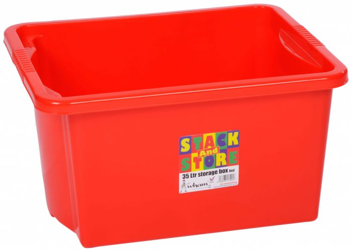 Wham Stack And Store Box 35 Litre - Red