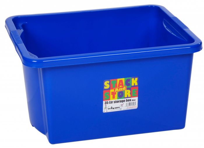 Wham Stack And Store Box 35 Litre - Blue