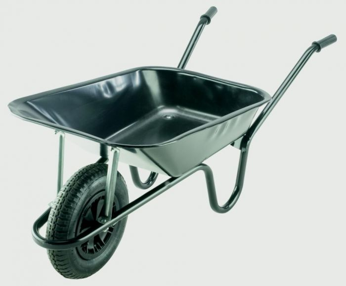 Walsall Wheelbarrow Builders Wheelbarrow With Pneumatic Tyre Black