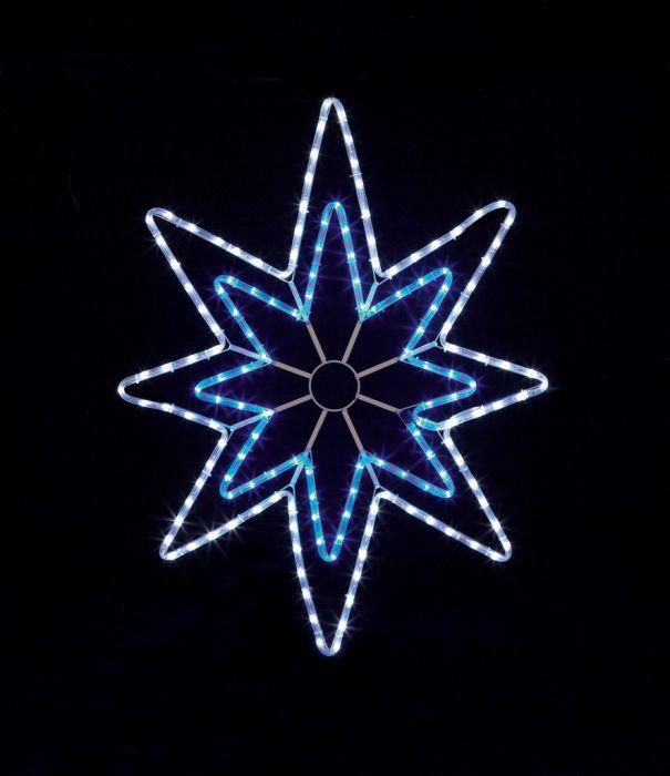 Blue/White Led Star Rope Light
