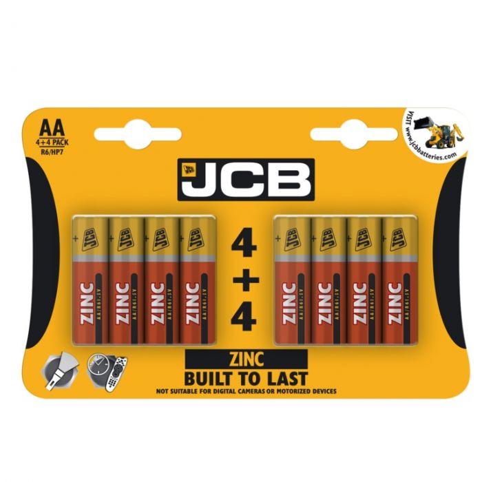Jcb Zinc Batteries 4 Plus 4 Aa