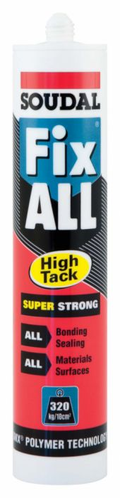 Soudal Fix All Super Strong Sealant/Adhesive 290Ml Cartridge White
