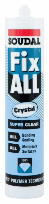 Soudal Fix All Super Strong Sealant/Adhesive 290Ml Cartridge Crystal Clear