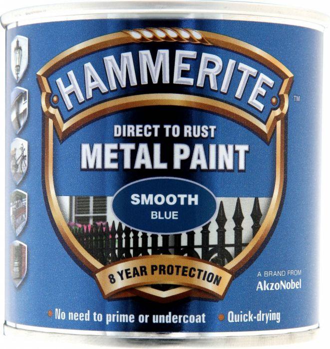 Hammerite Metal Paint Smooth 250Ml Blue