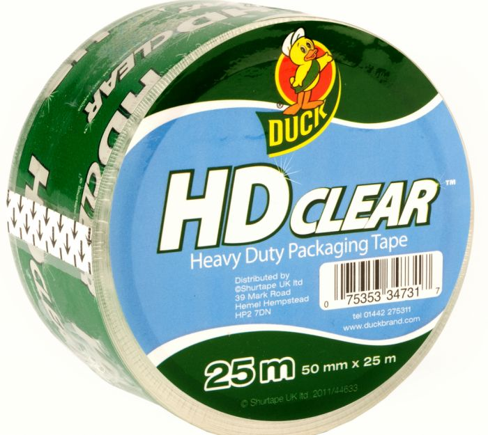 Duck Tape Heavy Duty Clear Packaging Tape 50Mm X 25M