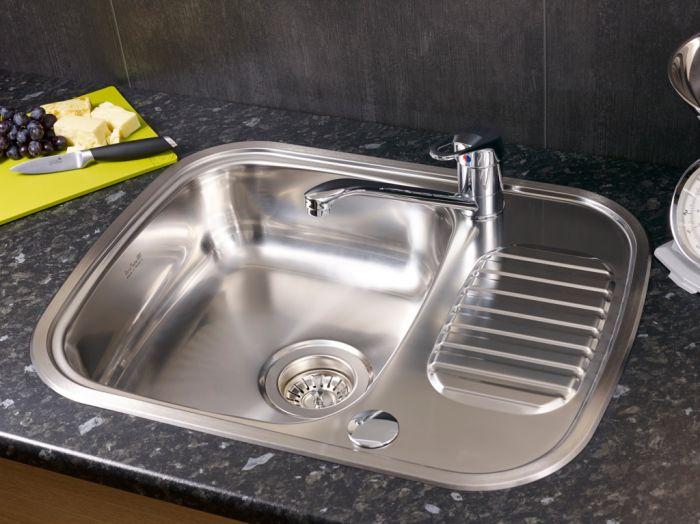 Reginox Regidrain Single Bowl Half Drainer Sink