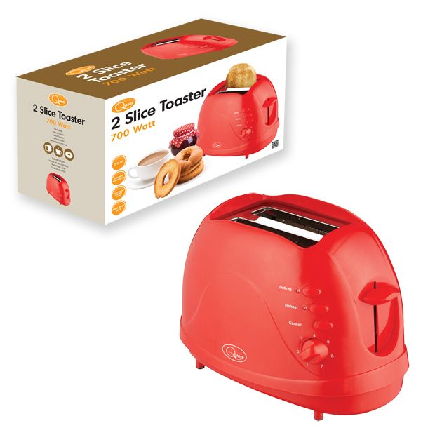 Quest 2 Slice Toaster Red
