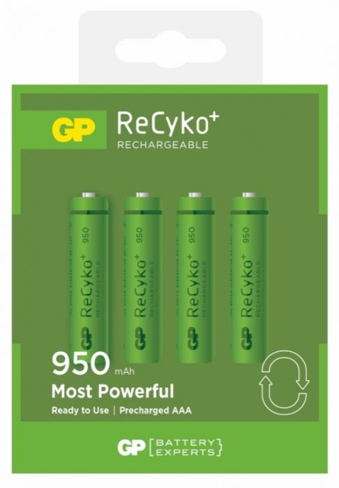 Gp Rechargeable Batteries Pack 4 Aaa 950 Nimh