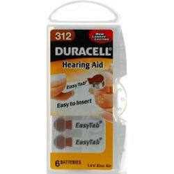 Duracell Hearing Aid Battery - 312 Pack 6