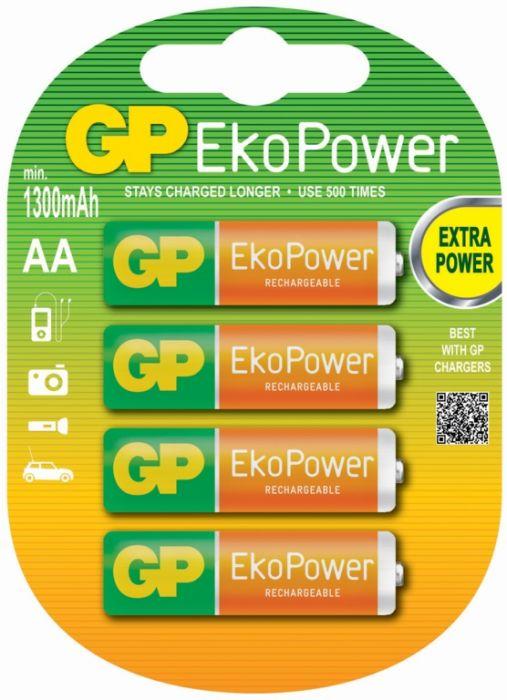 Gp Aa Ekopower Batteries Pack 4