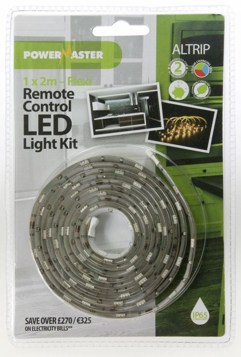 Powermaster 2M Length Of Flexi Led Strip 60 Led Colour Changing